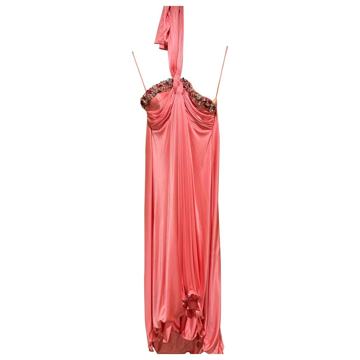 Blumarine \N Kleid in  Rosa Seide