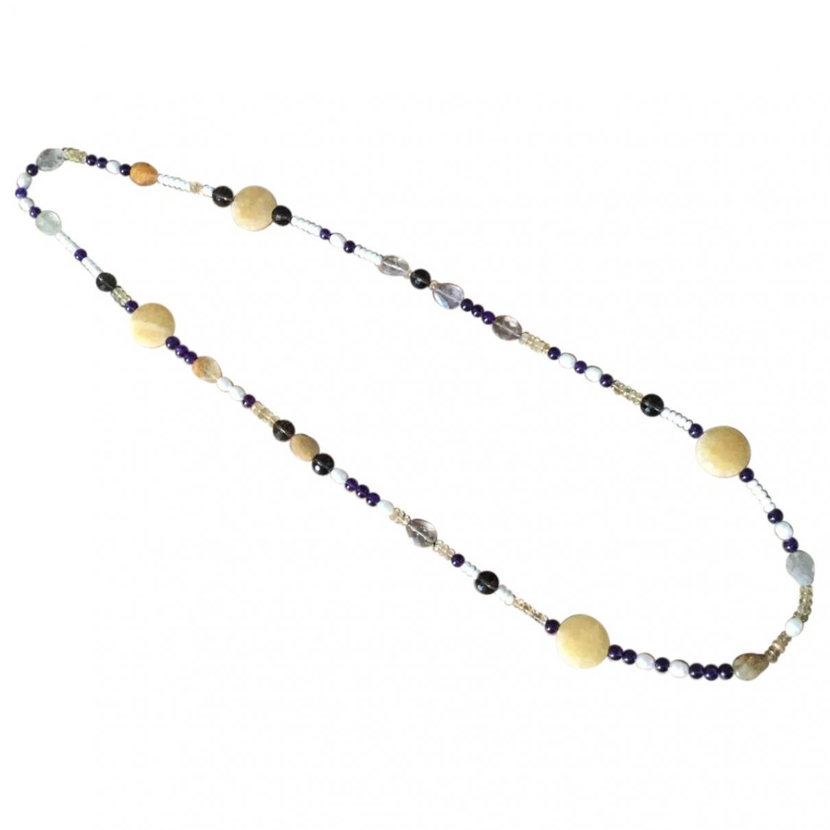 Non Signe / Unsigned Motifs Ethniques Halskette in  Bunt Perlen