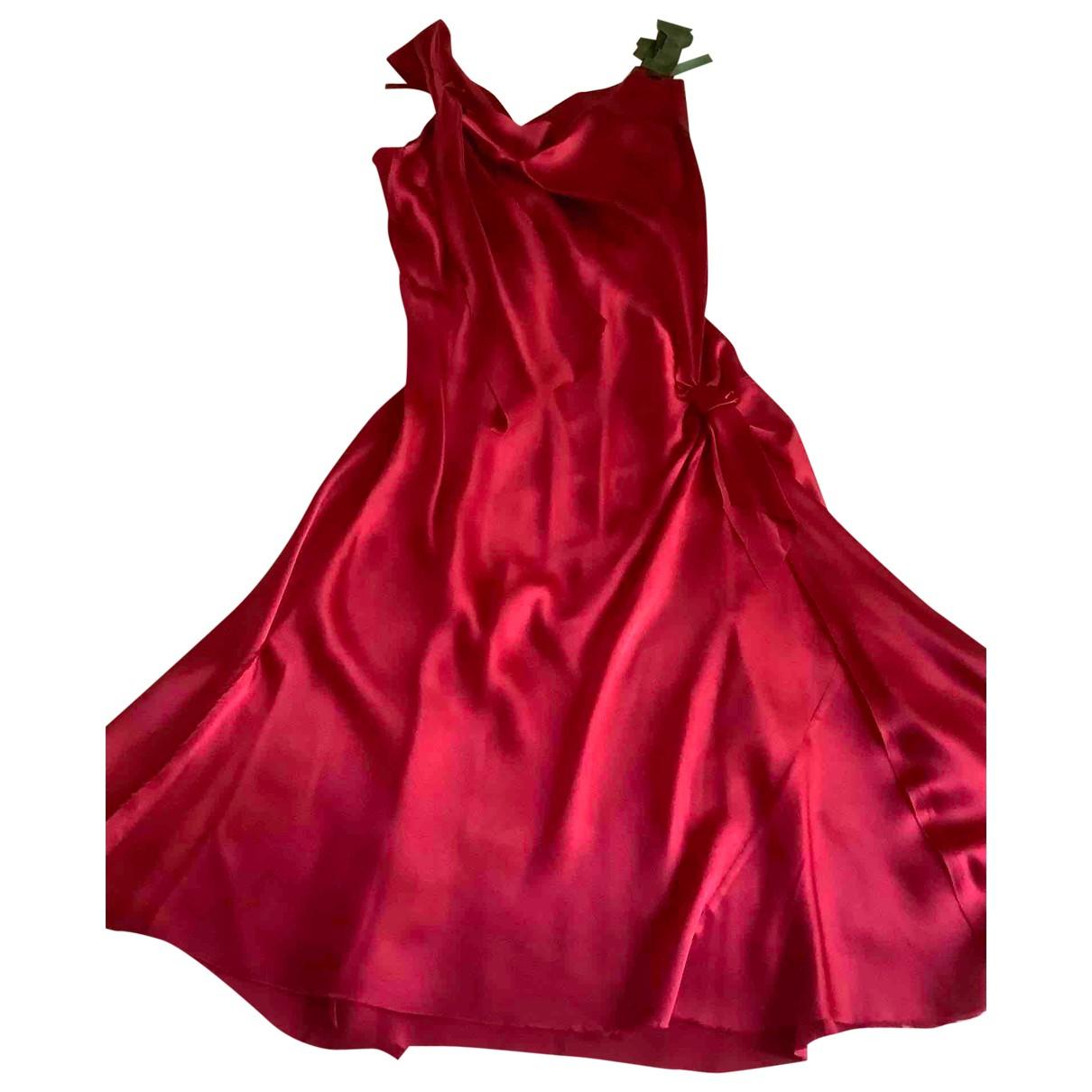 Alberta Ferretti \N Red Silk dress for Women 44 IT