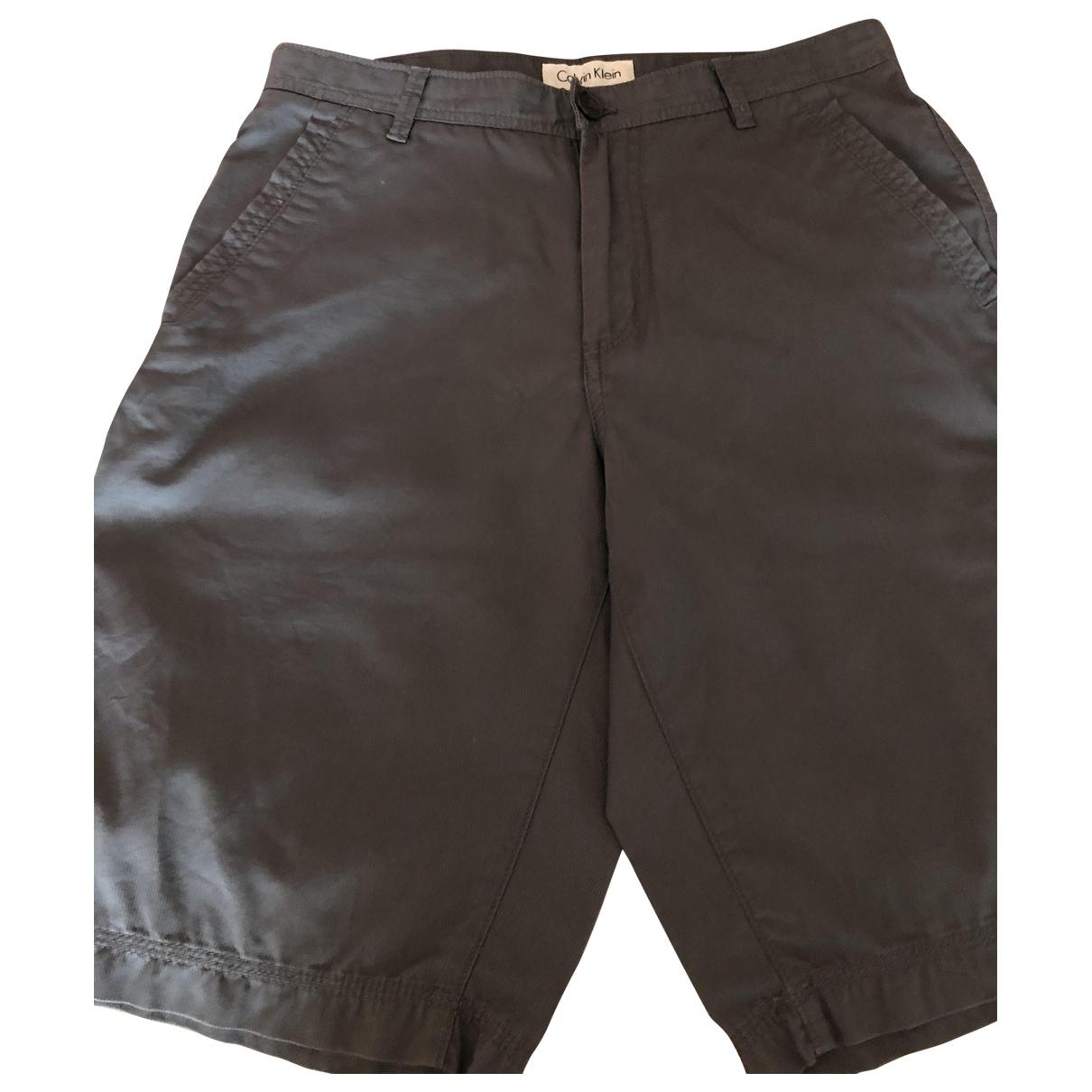 Calvin Klein \N Shorts in  Anthrazit Baumwolle