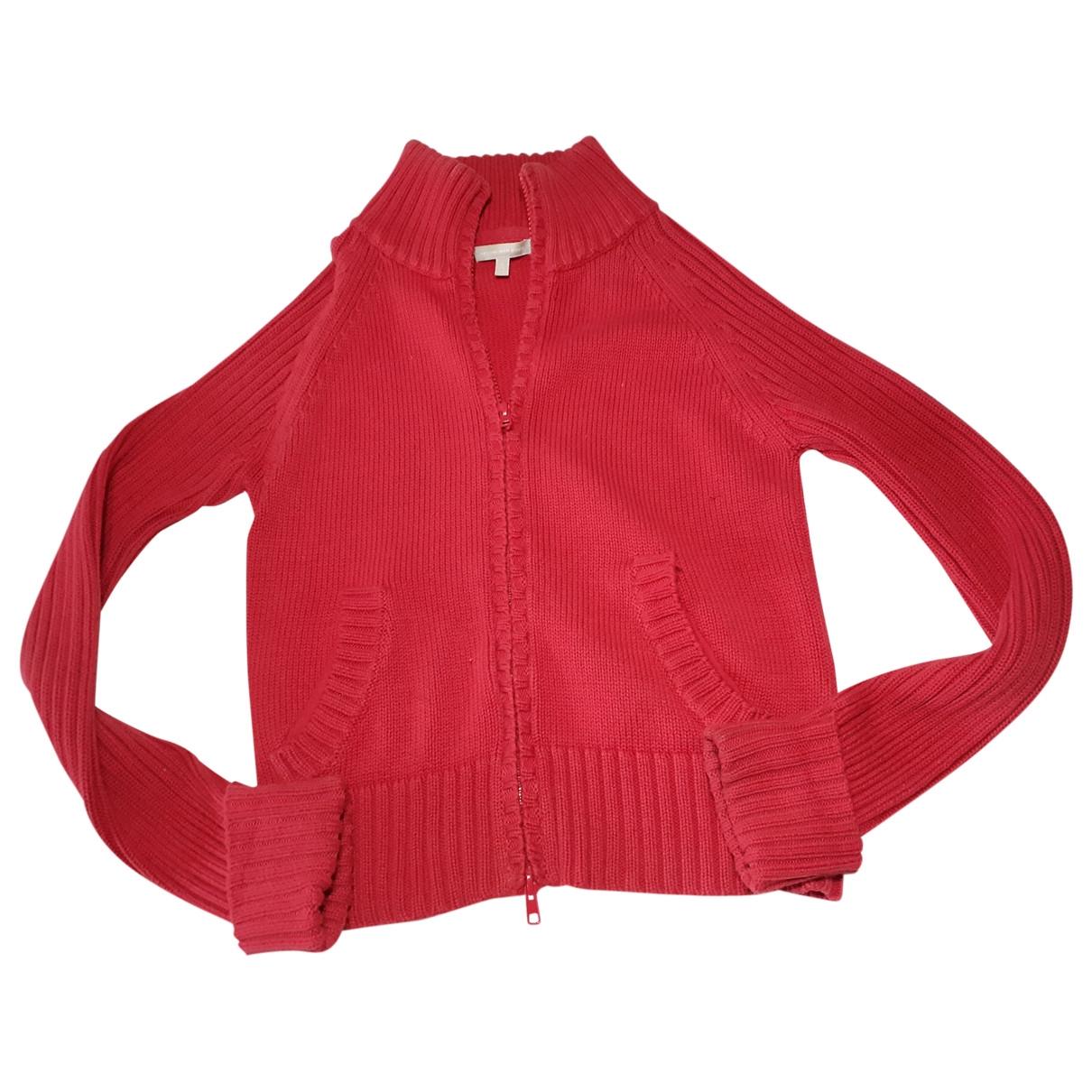 Massimo Dutti - Pull   pour femme en coton - rouge