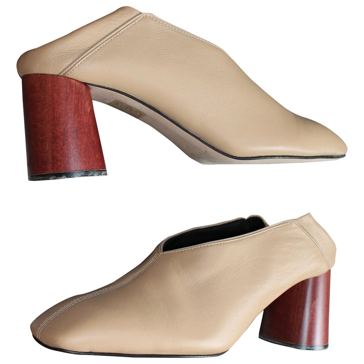 Helmut Lang \N Camel Leather Heels for Women 38 EU
