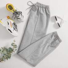 Solid Drawstring Sweatpants