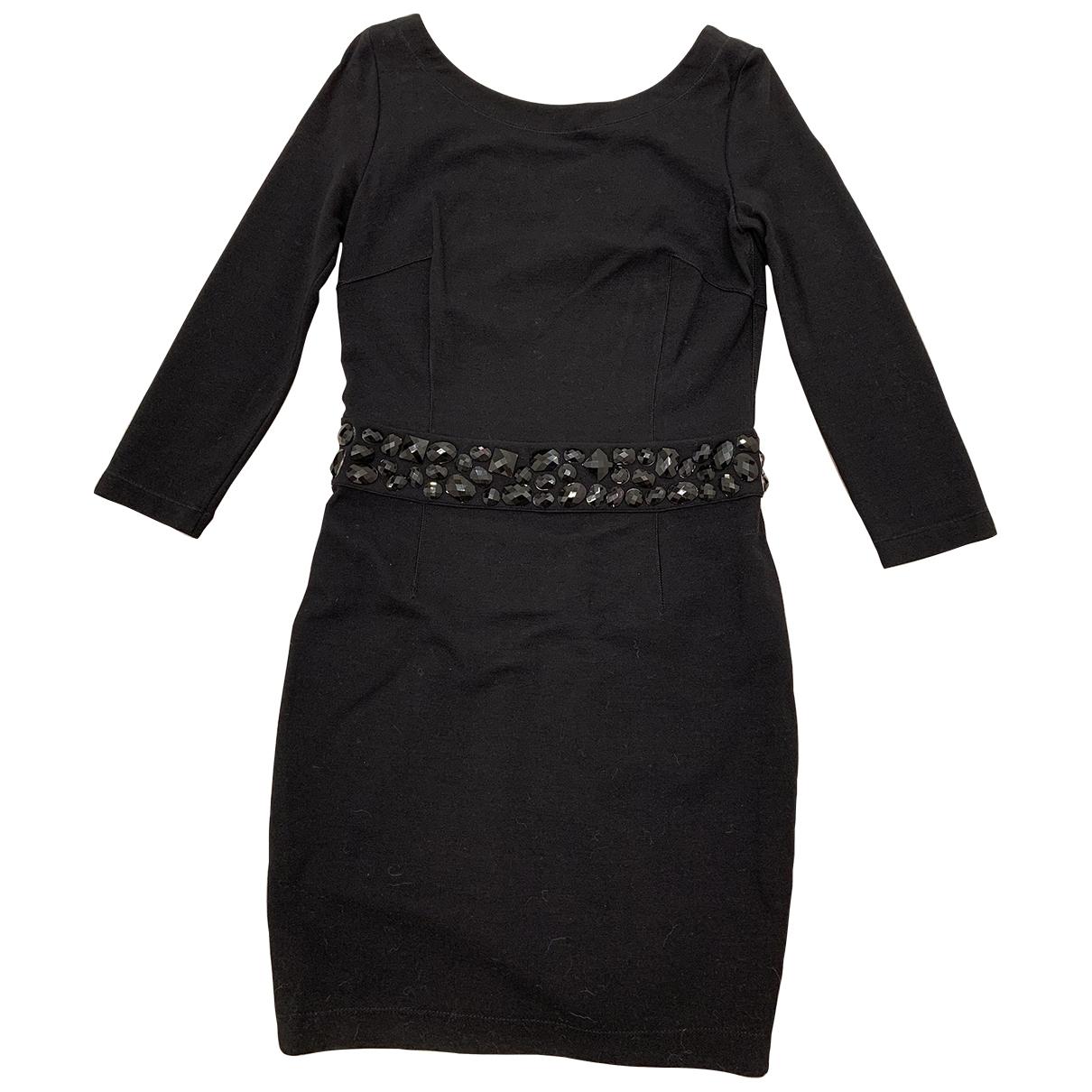 Blumarine \N Kleid in  Schwarz Wolle