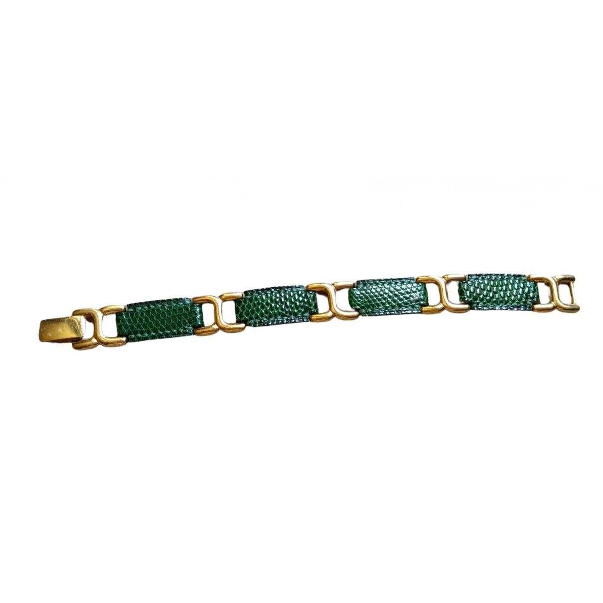 Hermes \N Armband in  Gruen Echse