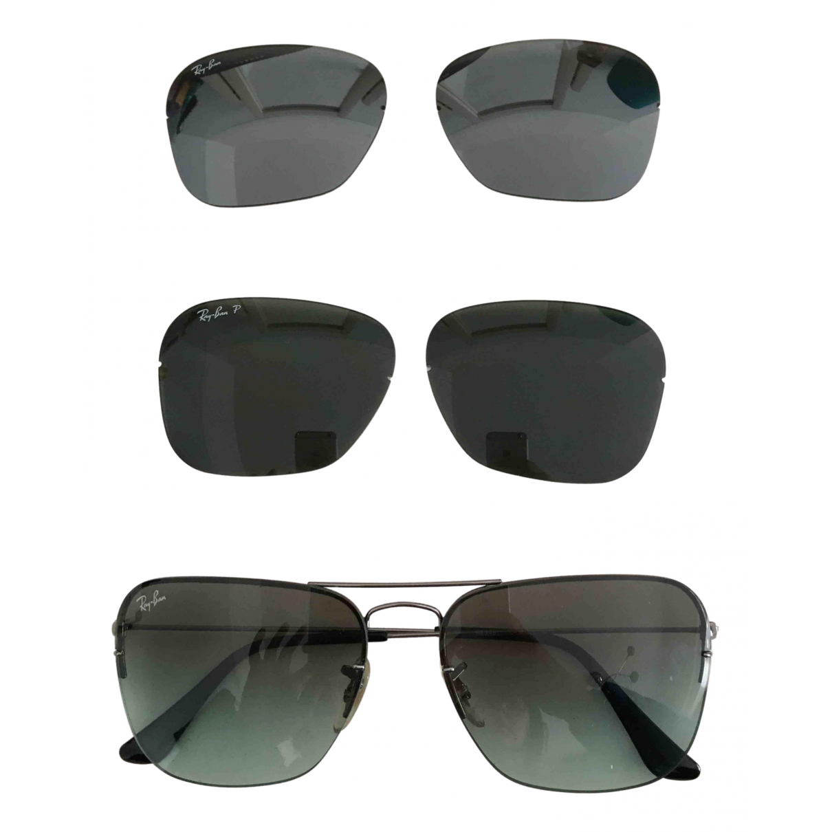 Ray-ban Aviator Metallic Metal Sunglasses for Women \N