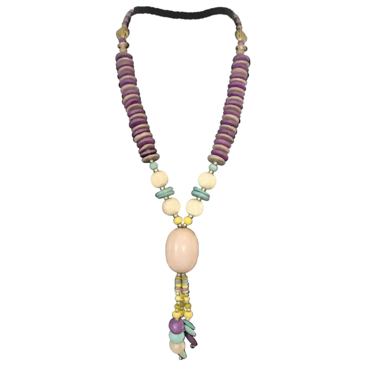 Non Signé / Unsigned Motifs Ethniques Purple Wood necklace for Women \N