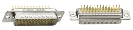 FCT - A MOLEX COMPANY F Series Series, 25 Way Panel Mount PCB D-sub Connector Plug