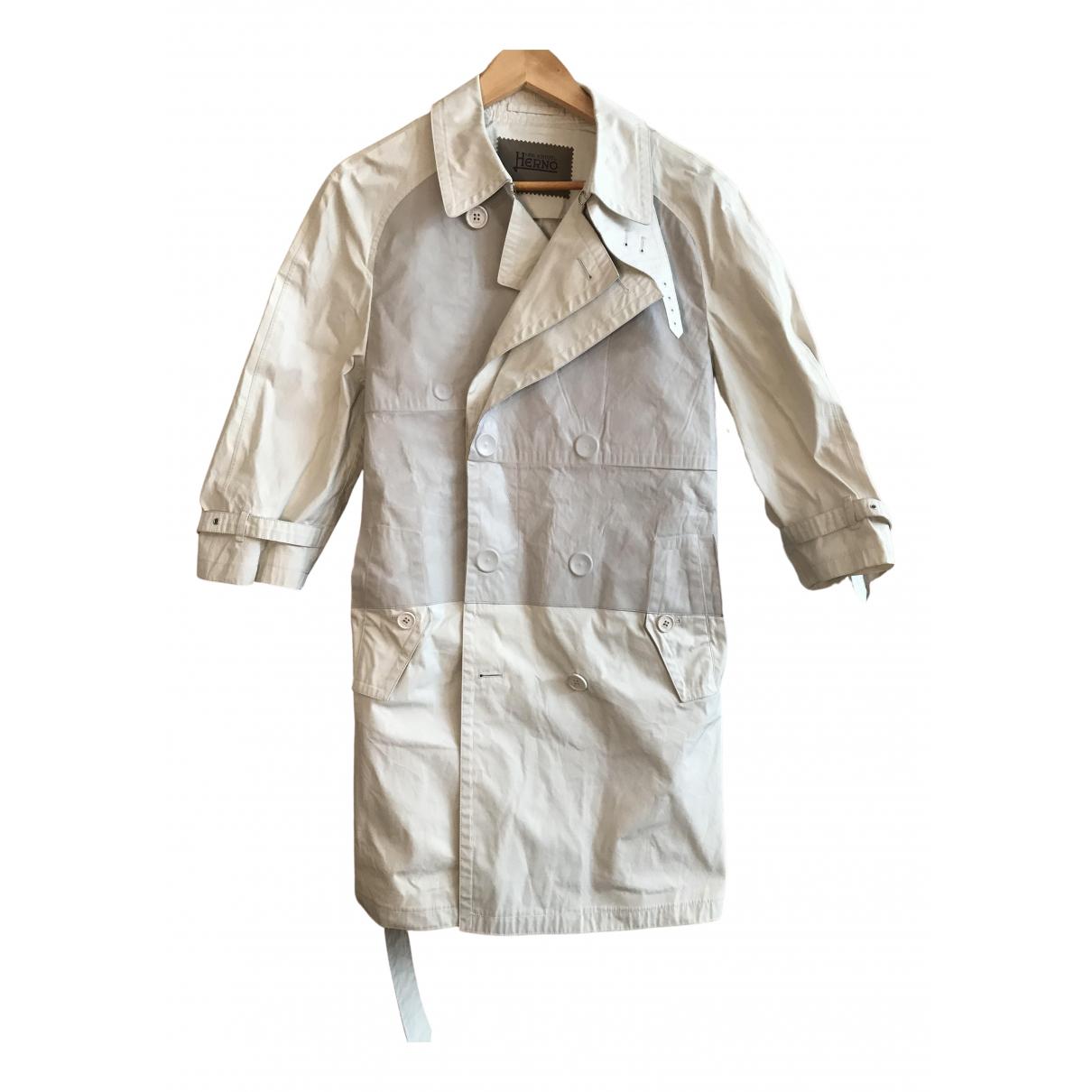 Herno - Manteau   pour homme en cuir - beige