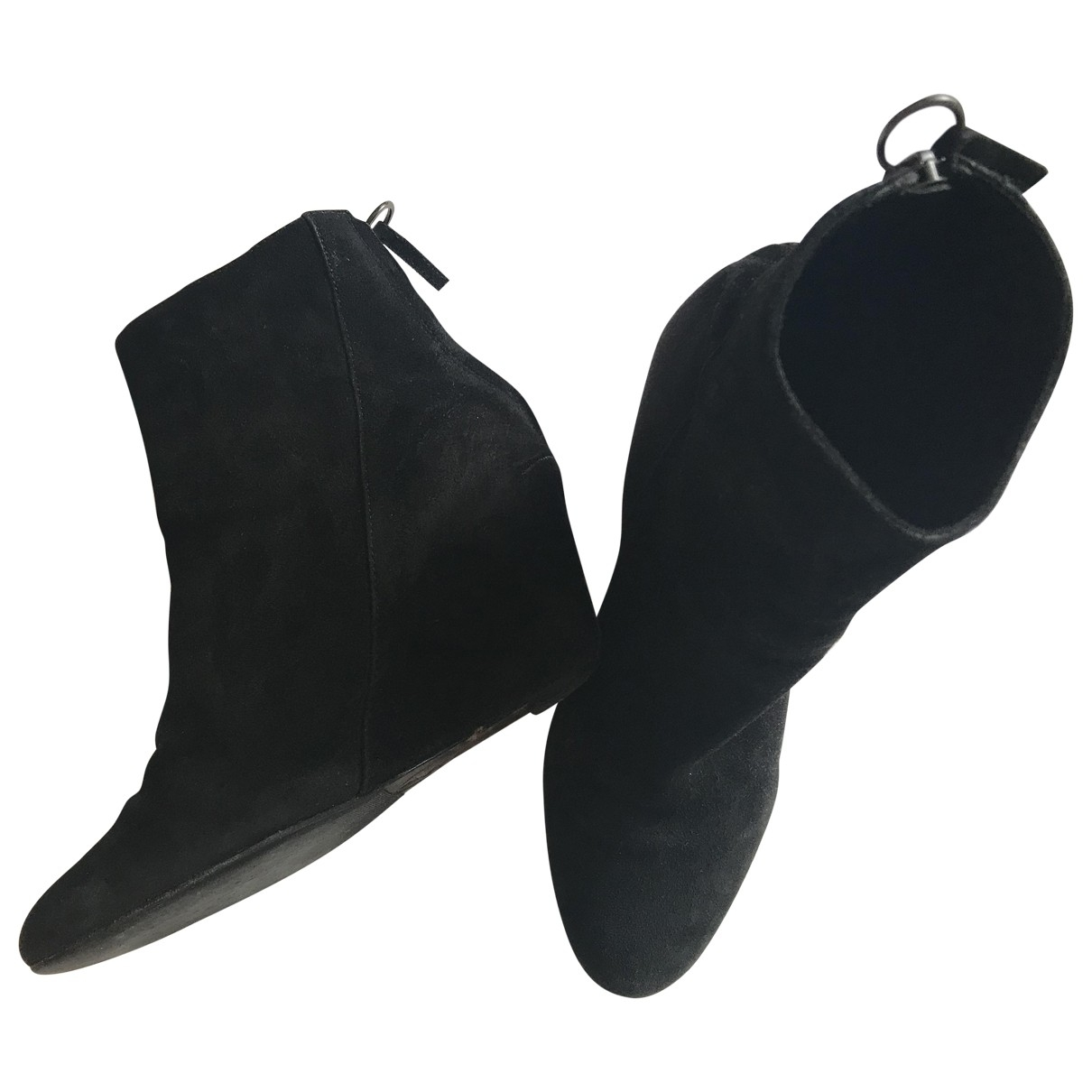 Ash \N Black Suede Ankle boots for Women 37.5 EU
