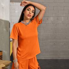 Neon Orange Short Sleeve Tee Without Bag