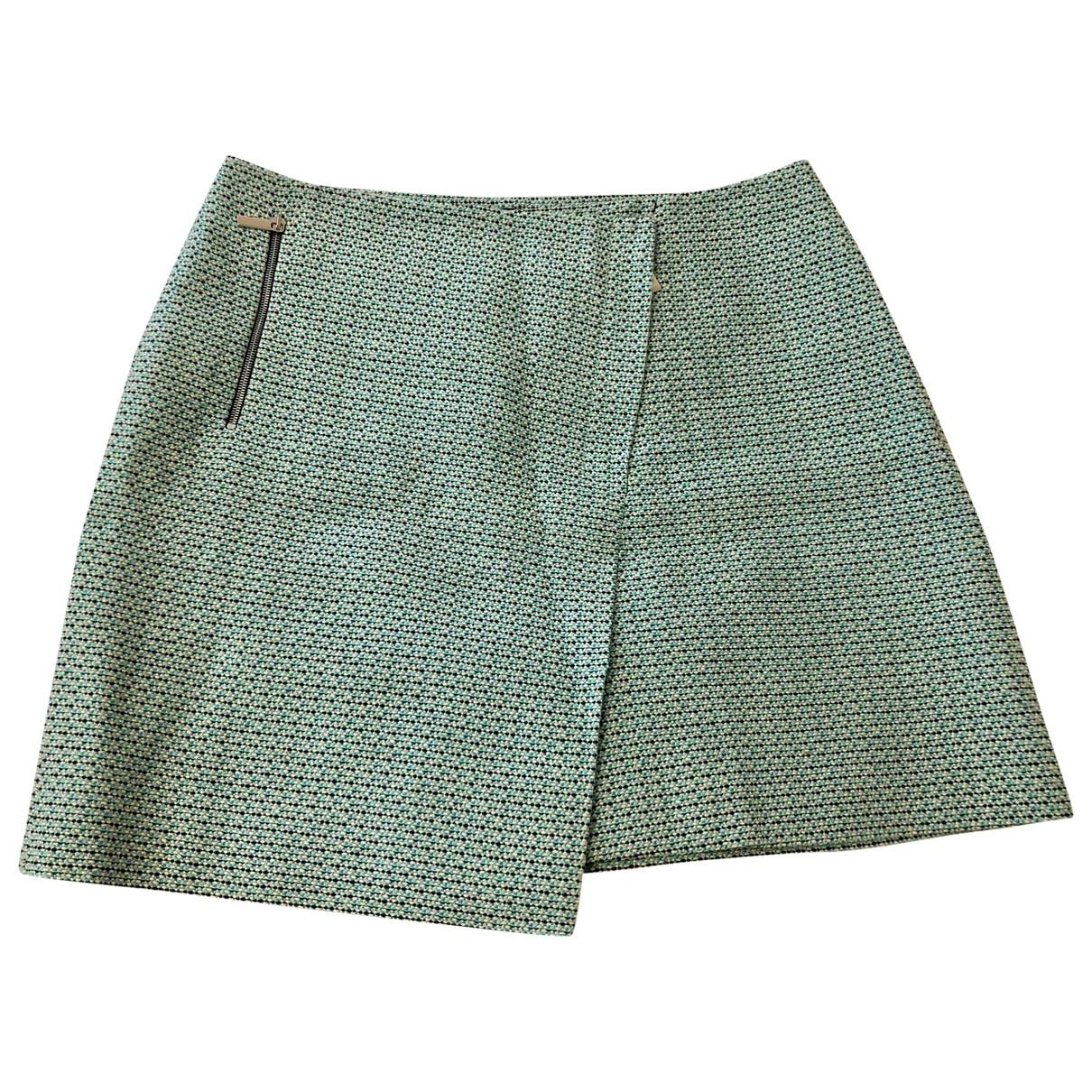 Karen Millen - Jupe   pour femme en coton - turquoise