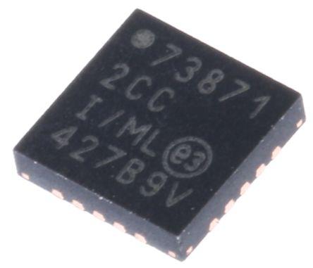 Microchip MCP73871-2CCI/ML, Lithium-Ion, Lithium-Polymer, Battery Charge Controller, 1A 20-Pin, QFN (2)