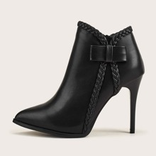 Point Toe Stiletto Ankle Boots