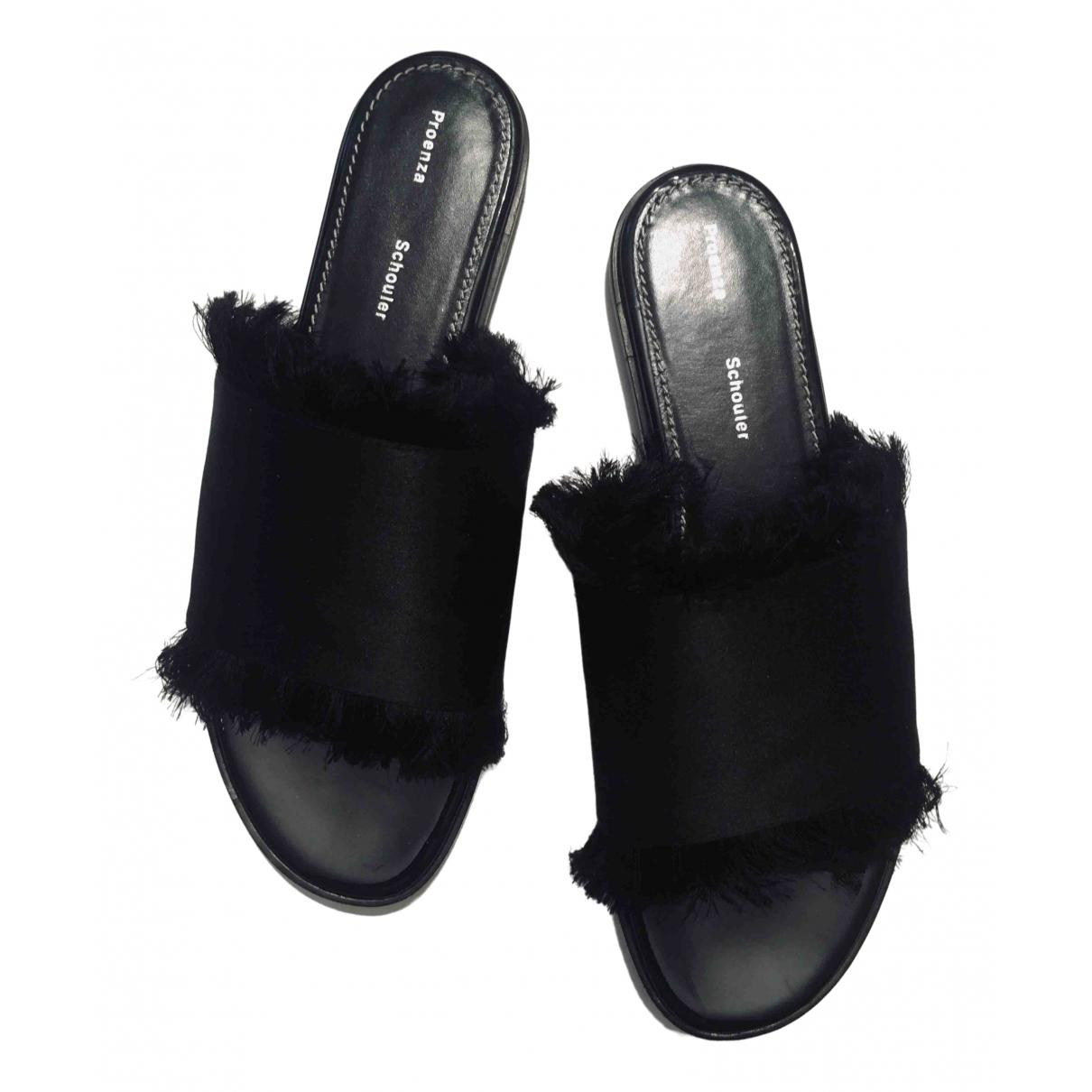 Proenza Schouler \N Sandalen in  Schwarz Leder