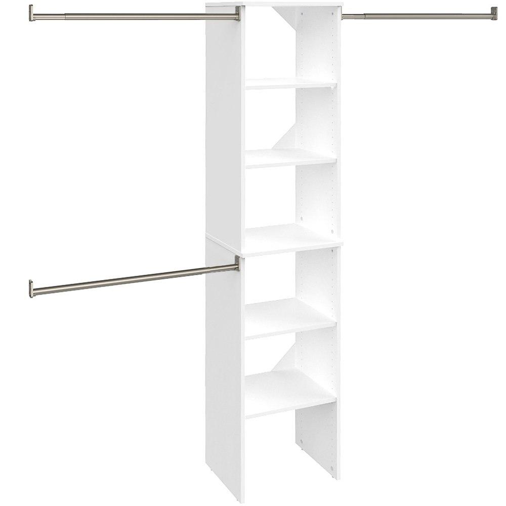 """SuiteSymphony 16"""" W Starter Closet Tower Kit, Pure White"""