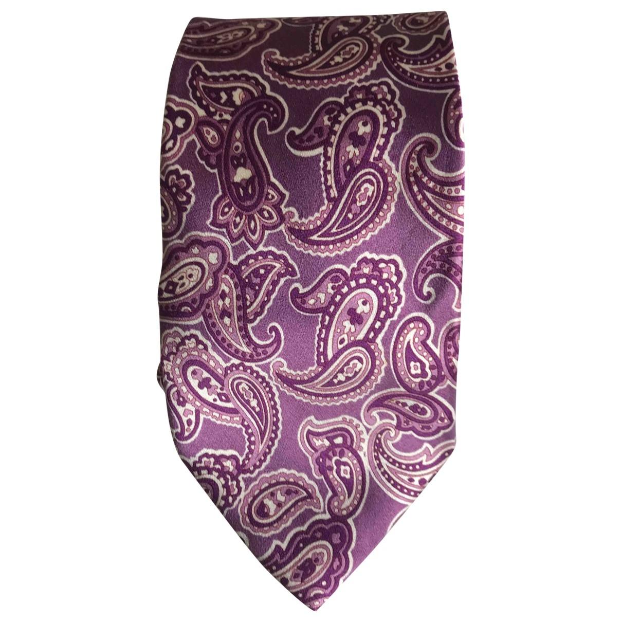 Etro - Cravates   pour homme en soie - violet