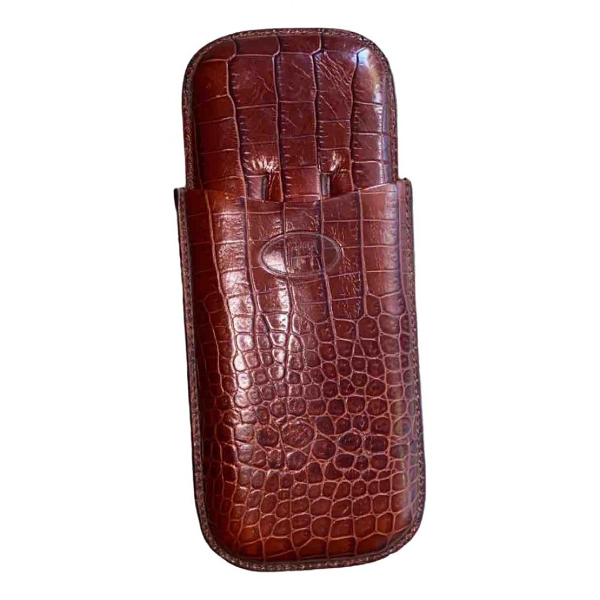 Alfred Dunhill - Objets & Deco   pour lifestyle en crocodile - marron