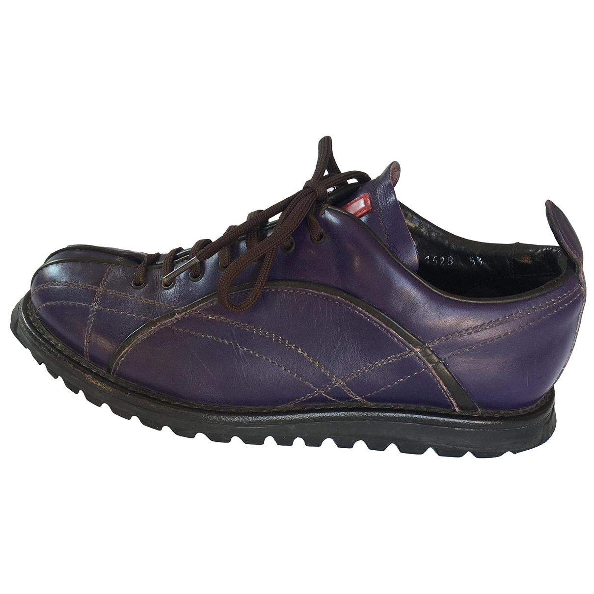 Prada \N Purple Leather Trainers for Women 5.5 UK