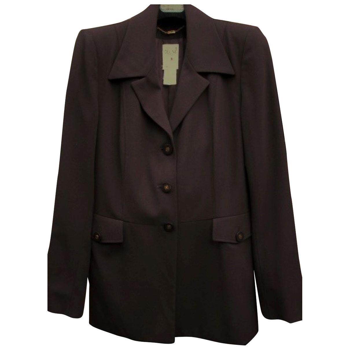 Celine - Veste   pour femme en laine - marron