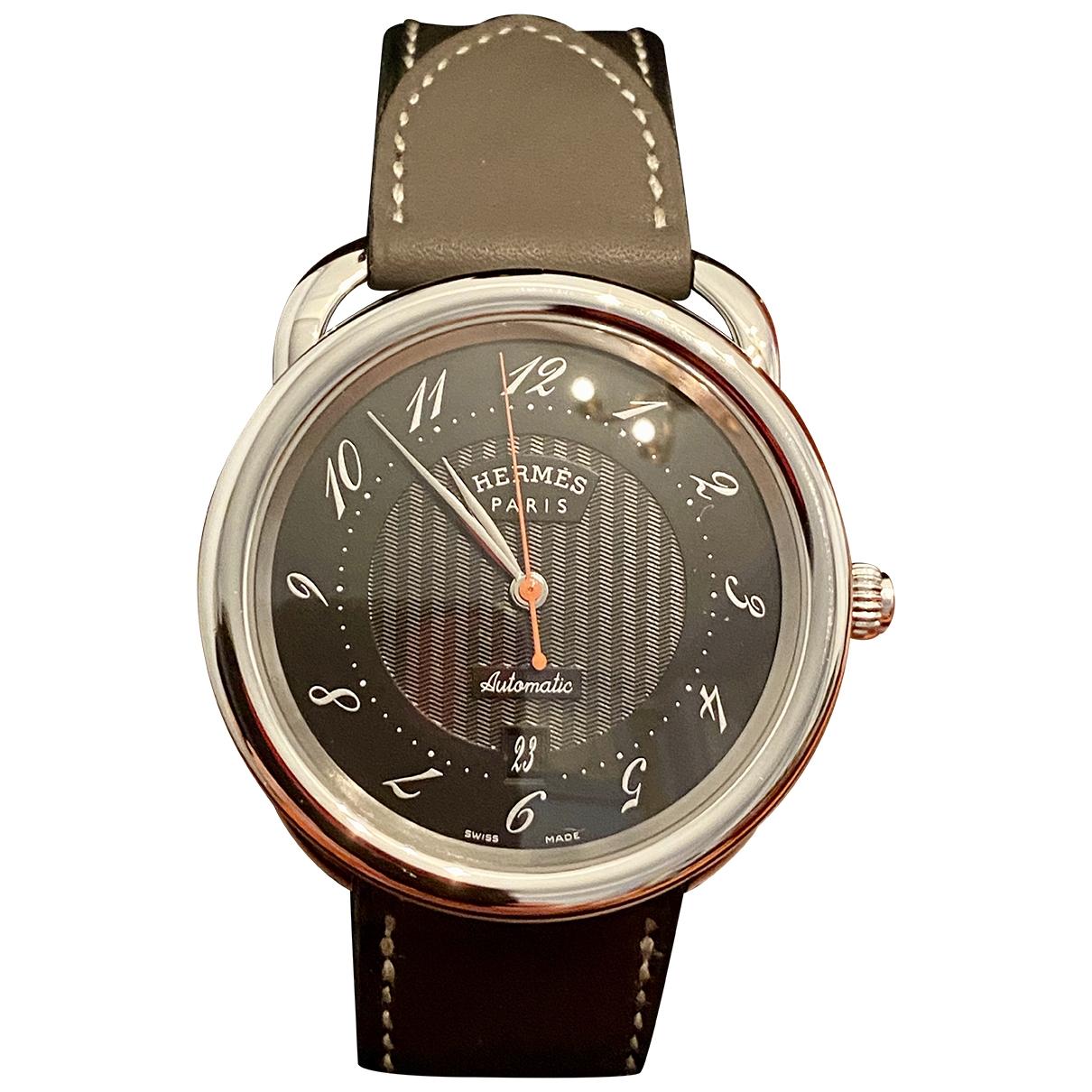 Hermes Arceau Uhr in Stahl
