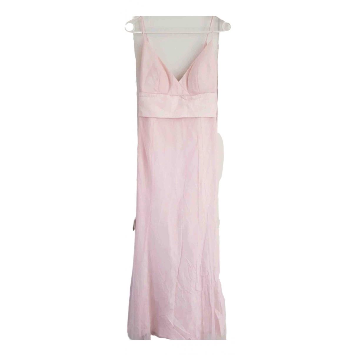 Vera Wang \N Kleid in  Rosa Synthetik