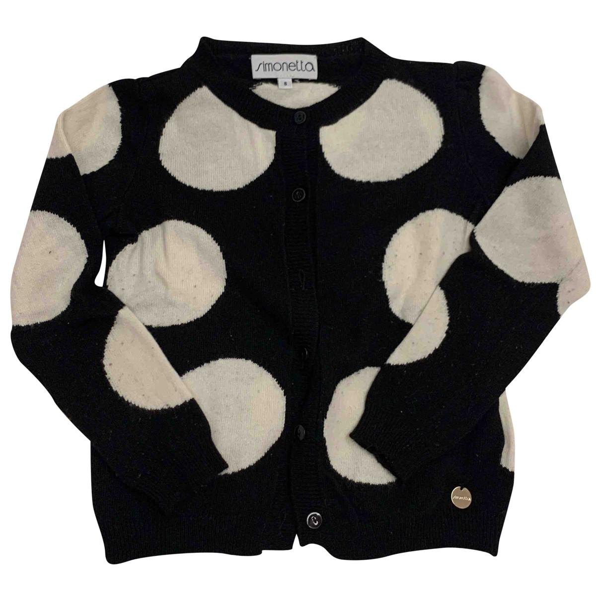 Simonetta - Pull   pour enfant en laine - noir