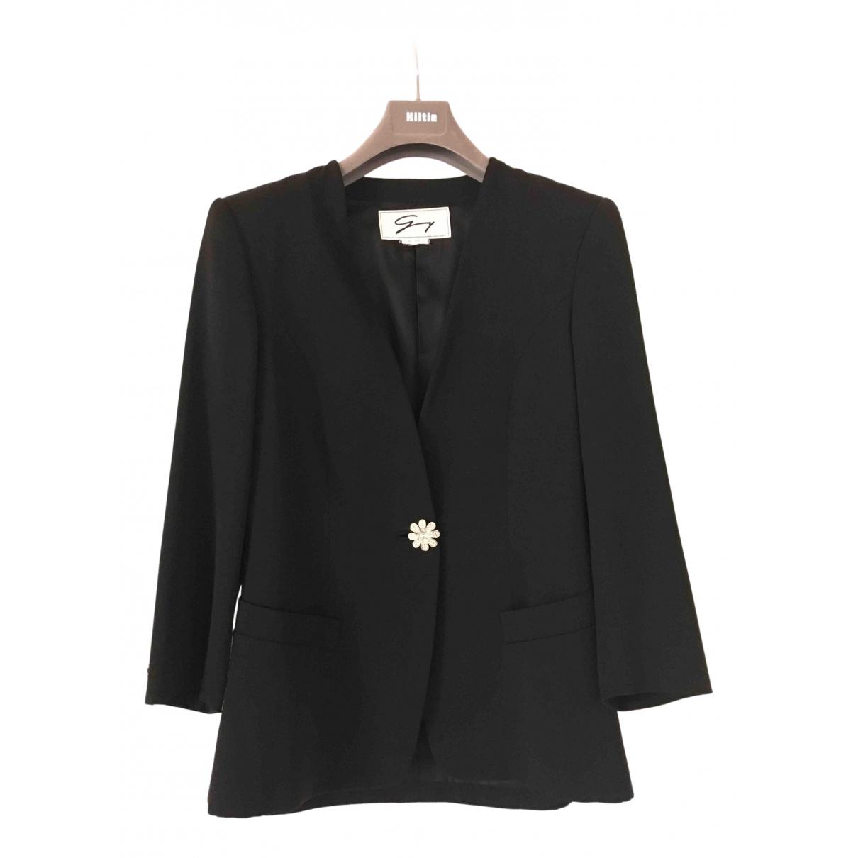 Genny - Veste   pour femme en laine - noir