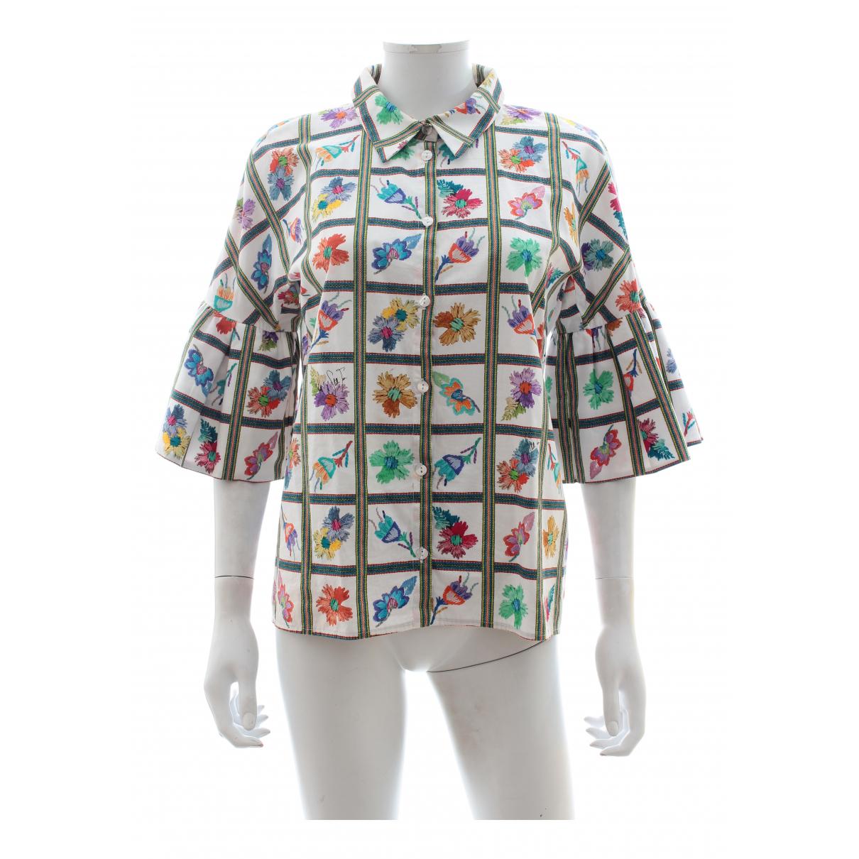Stella Jean - Top   pour femme en coton - multicolore