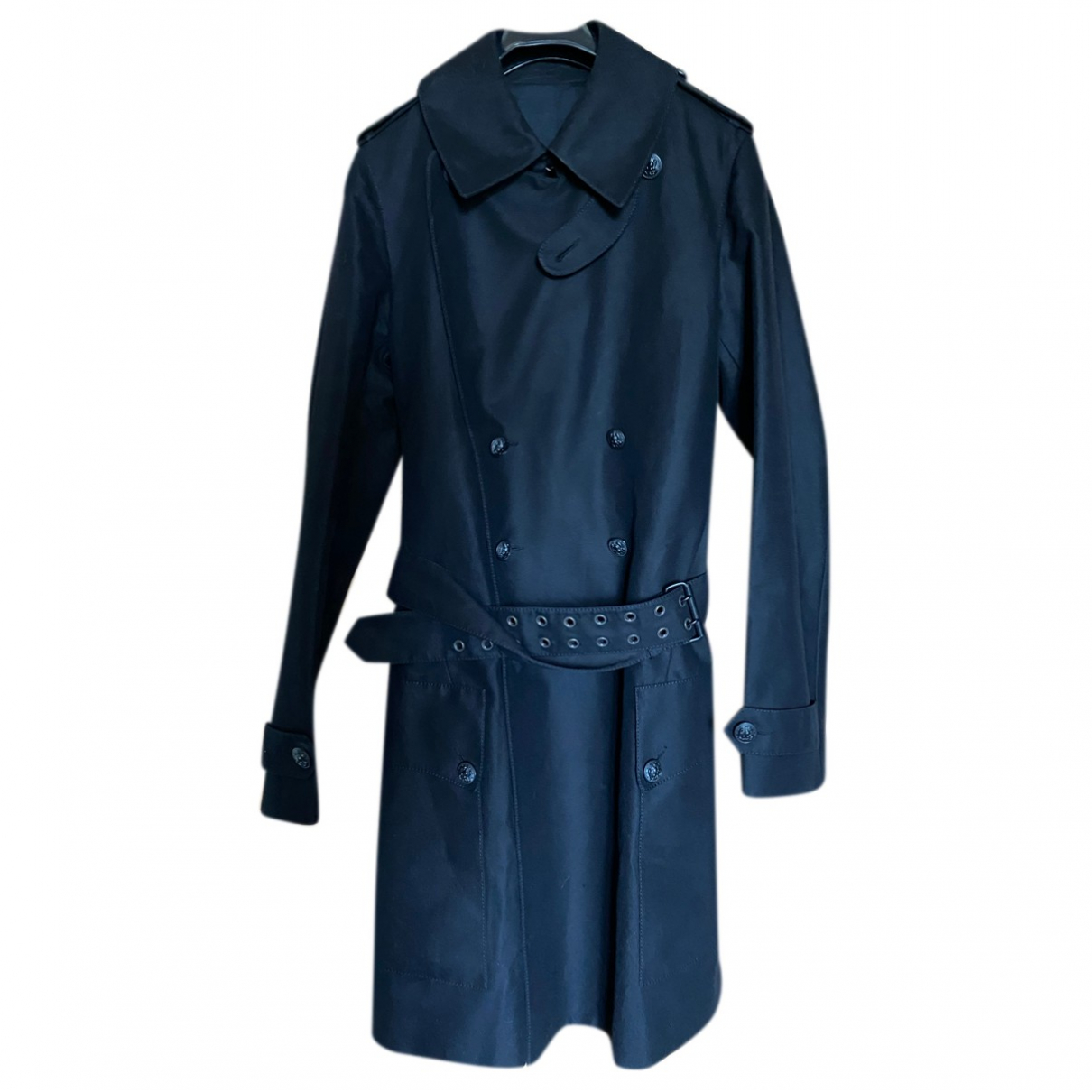 Balmain N Black Cotton coat  for Men 48 FR