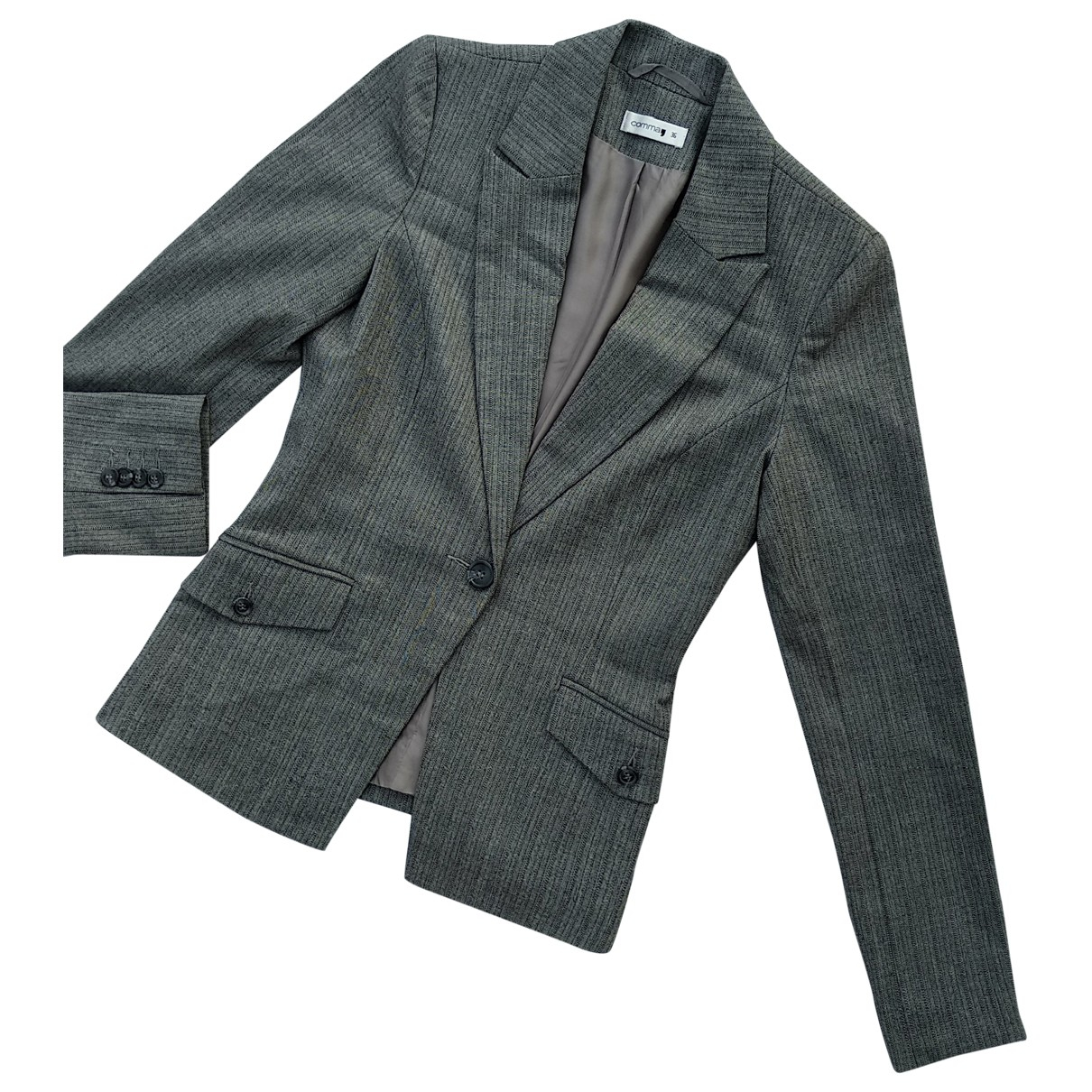 Non Signé / Unsigned \N Grey jacket for Women 36 FR