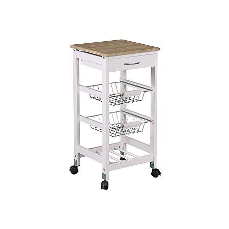 Home Basics Shelf Cart, One Size , White