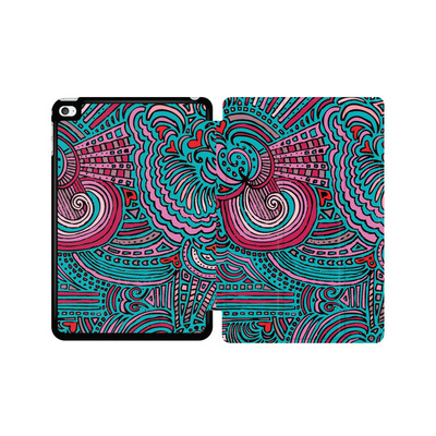 Apple iPad mini 4 Tablet Smart Case - Drawing Meditation Turquoise von Kaitlyn Parker