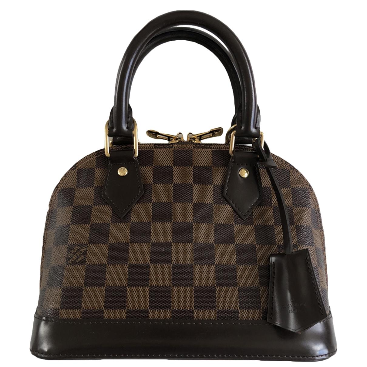 Louis Vuitton Alma BB Brown Cloth handbag for Women \N