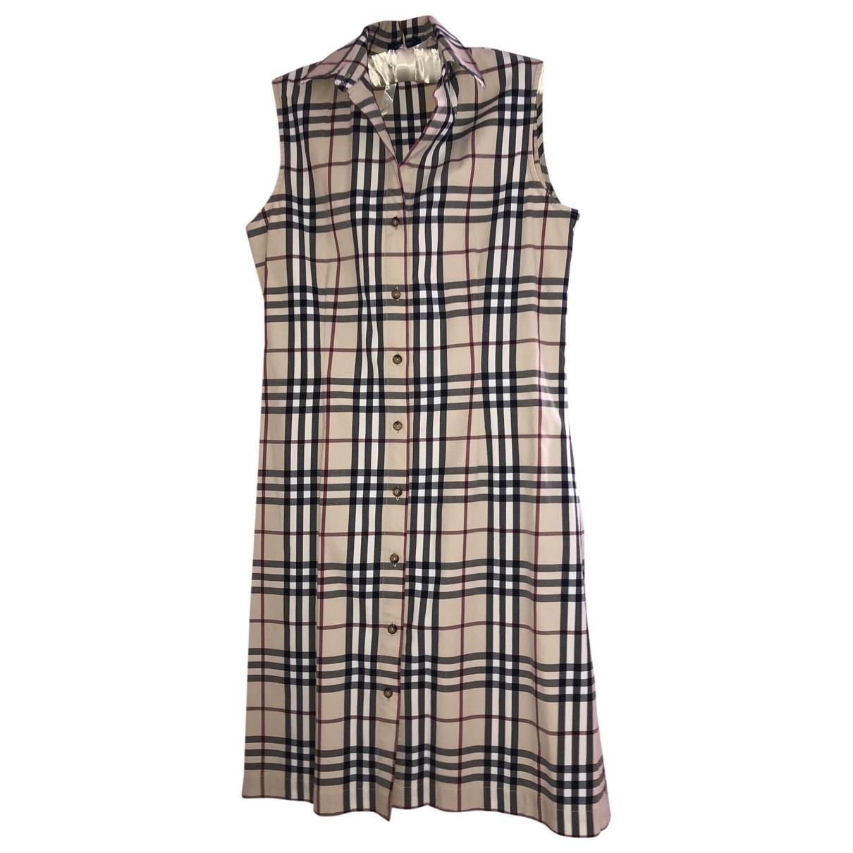 Burberry \N Kleid in  Beige Baumwolle - Elasthan