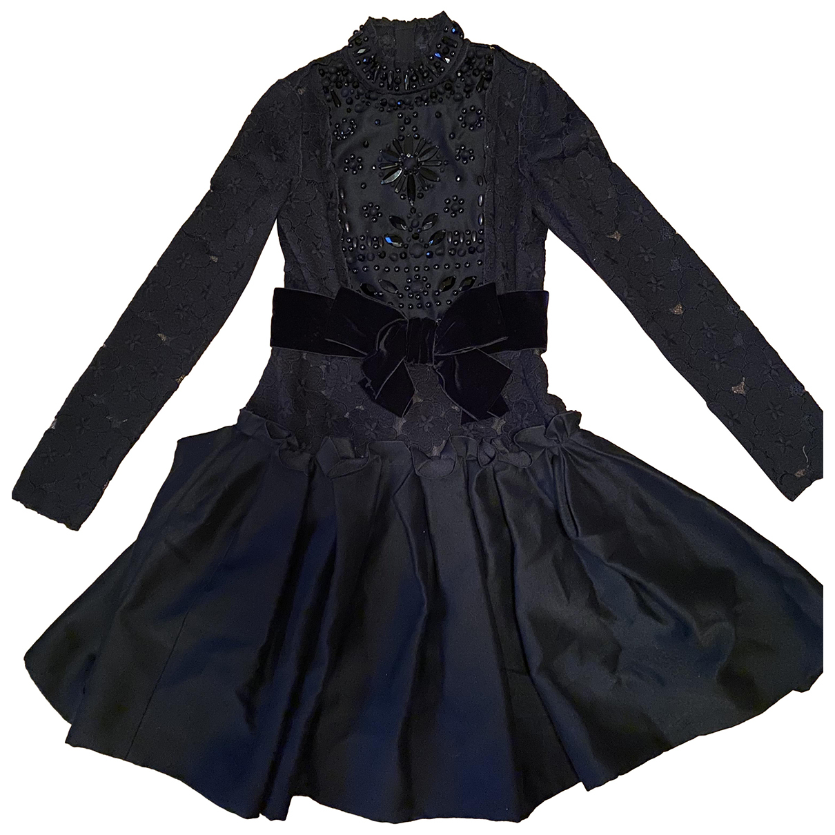 Lanvin - Robe   pour femme en laine - noir