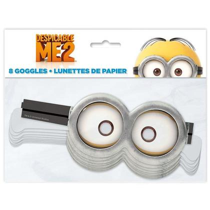 Despicable Me Minion Goggles Paper 8Pcs For Birthday Party