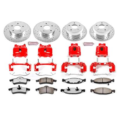 Power Stop Z36 Extreme Performance Truck & Tow 1-Click Front and Rear Brake Kit with Calipers - KC2148-36