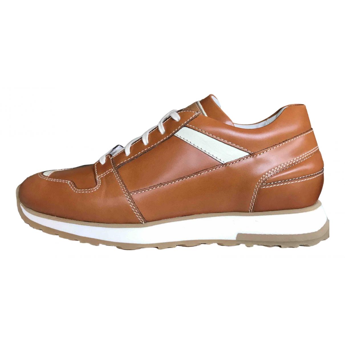 Santoni \N Sneakers in  Kamel Leder