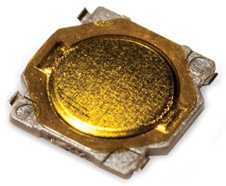 C & K IP40 Gold Button Tactile Switch, Single Pole Single Throw (SPST) 50 mA 0.7 (Dia.)mm Surface Mount (20)