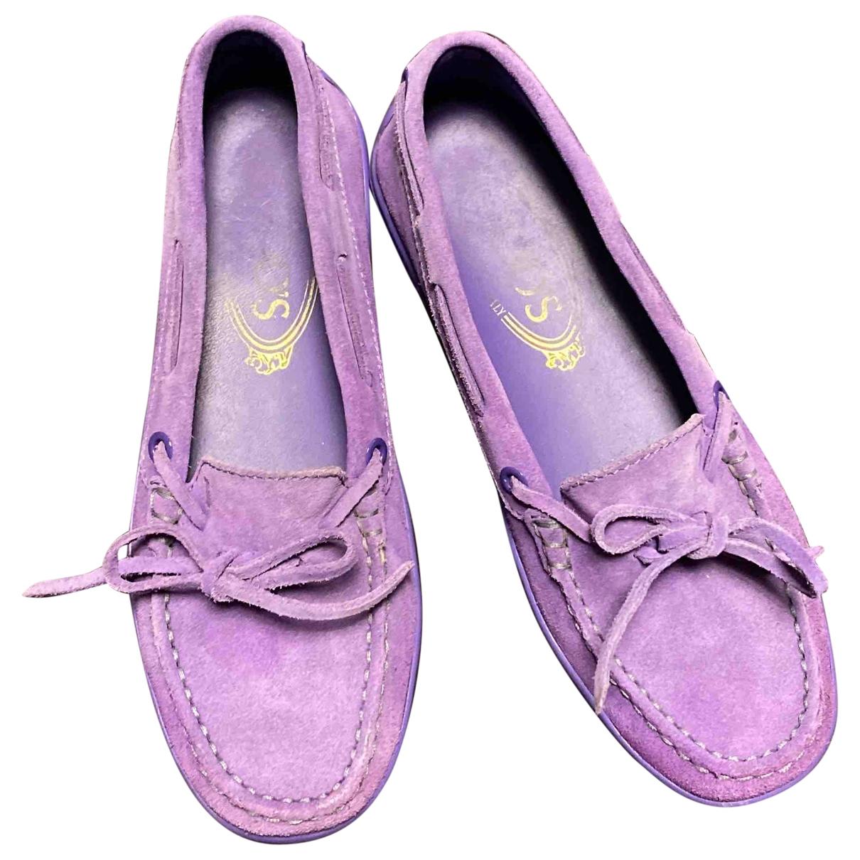 Tods - Mocassins Gommino pour femme en suede - violet