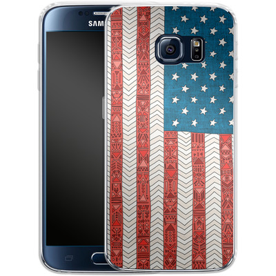 Samsung Galaxy S6 Silikon Handyhuelle - USA von Bianca Green