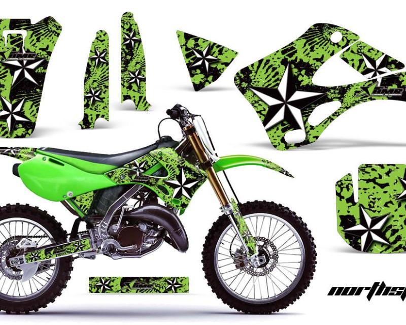 AMR Racing Dirt Bike Graphics Kit Decal Wrap For Kawasaki KX125   KX250 1999-2002áNORTHSTAR GREEN