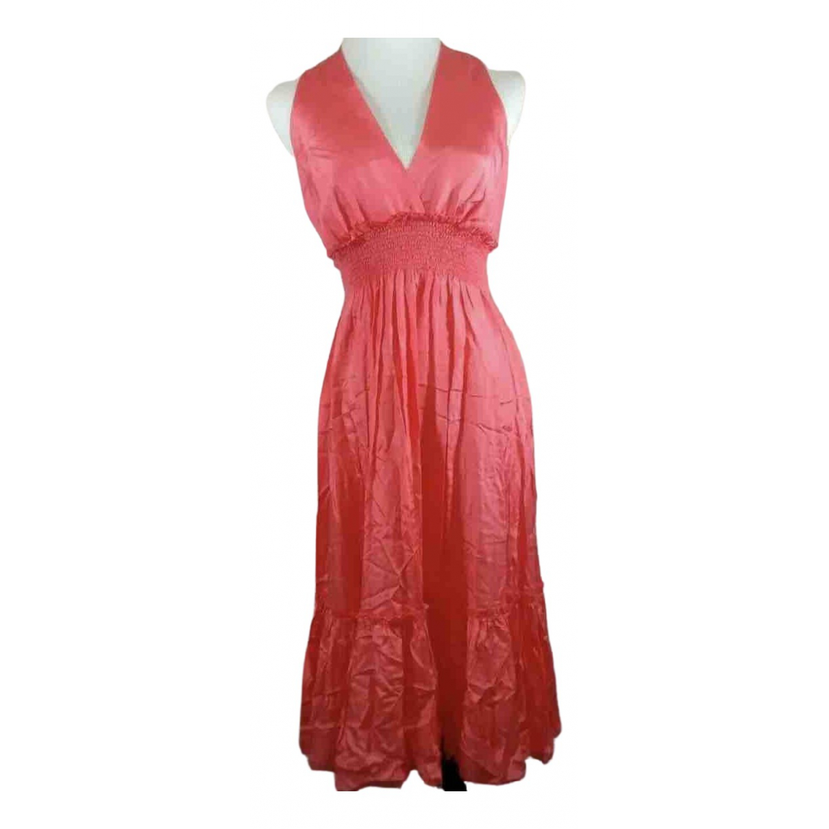 Bcbg Max Azria \N Kleid in  Rot Seide