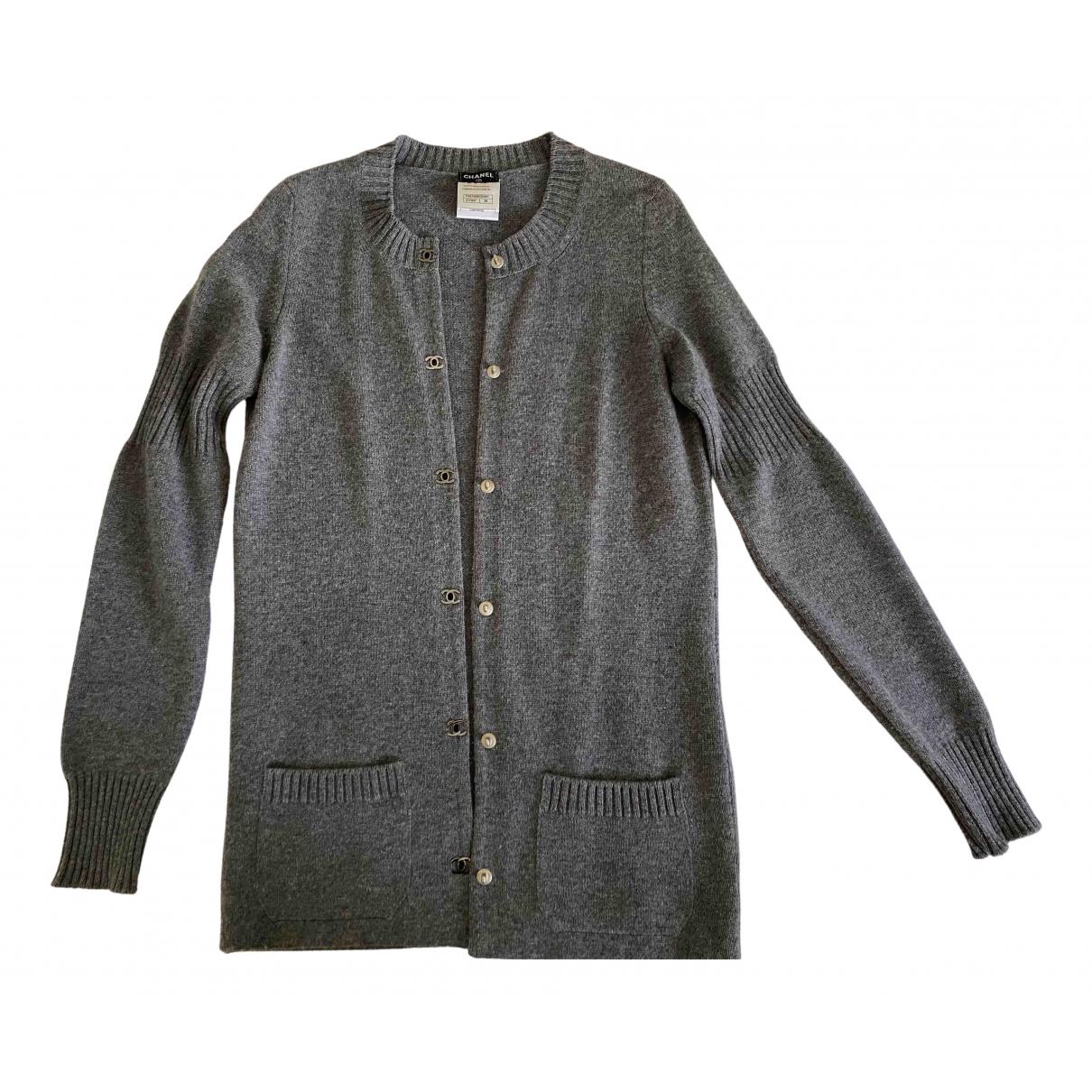 Chanel - Pull   pour femme en cachemire - gris