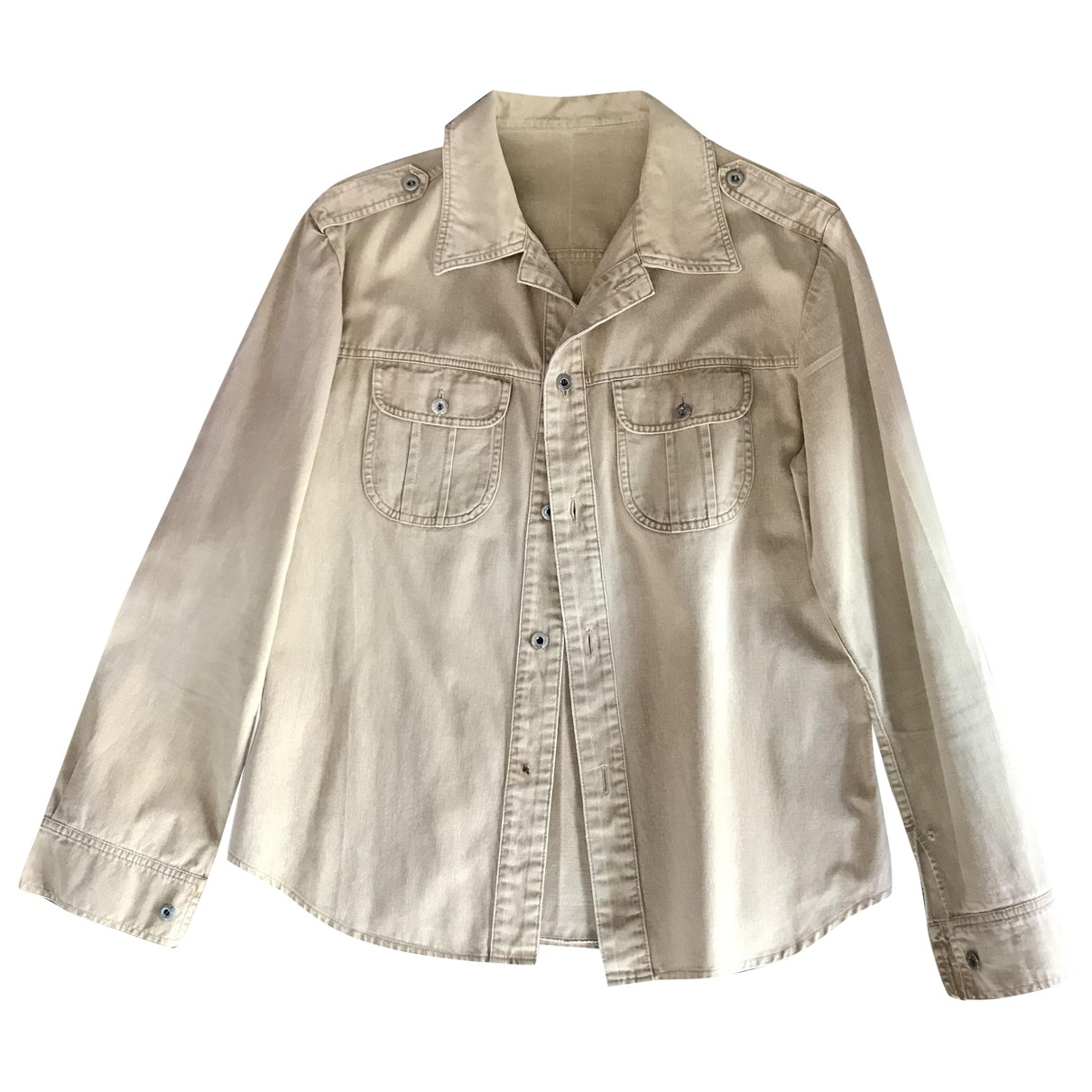 - Chemises   pour homme en lin - beige