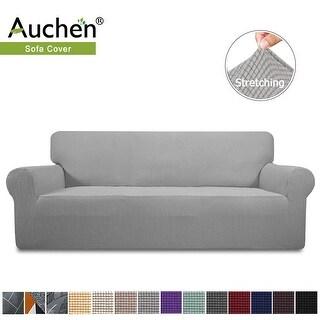 Auchen Stretch Sofa Slipcover, 1-Piece Jacquard Fabric Couch Sofa cover (XL Sofa - Light Gray)
