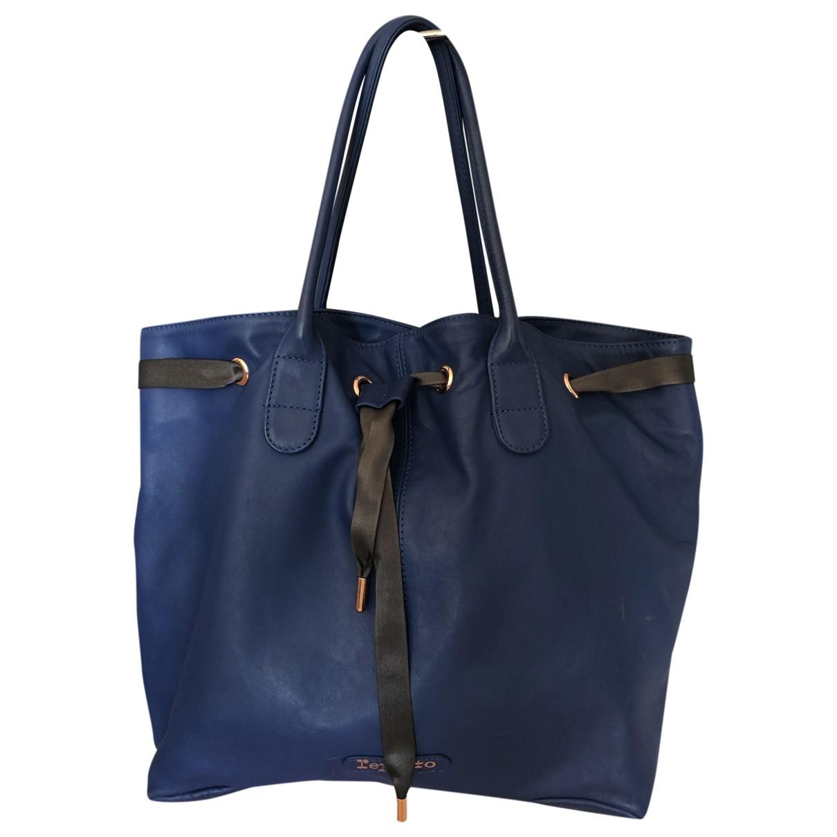 Repetto \N Handtasche in  Blau Leder