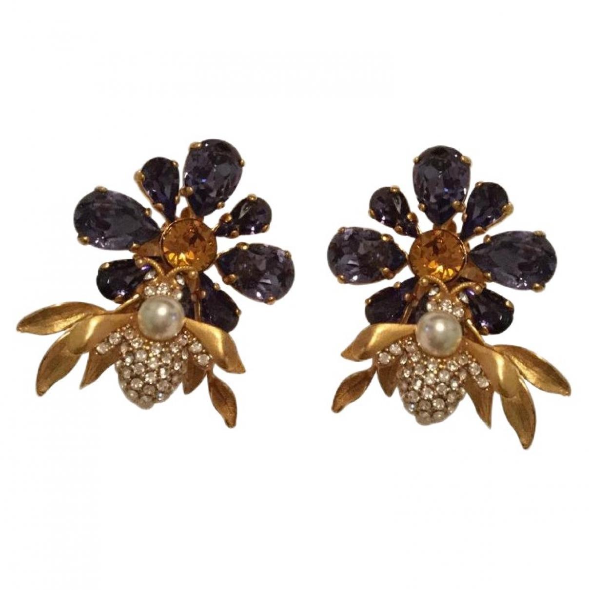 Dolce & Gabbana - Boucles doreilles   pour femme en metal - violet