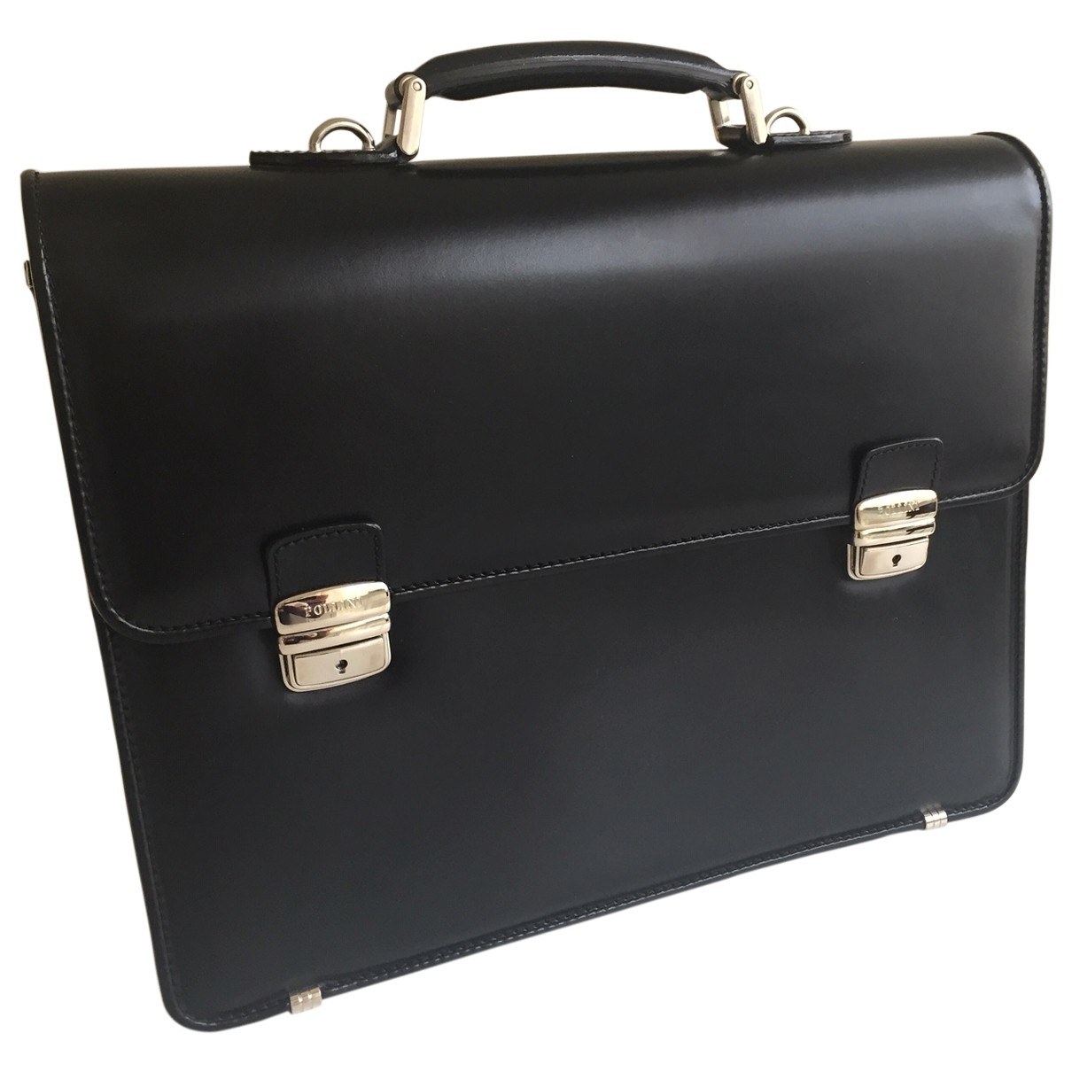 Pollini \N Black Leather bag for Men \N